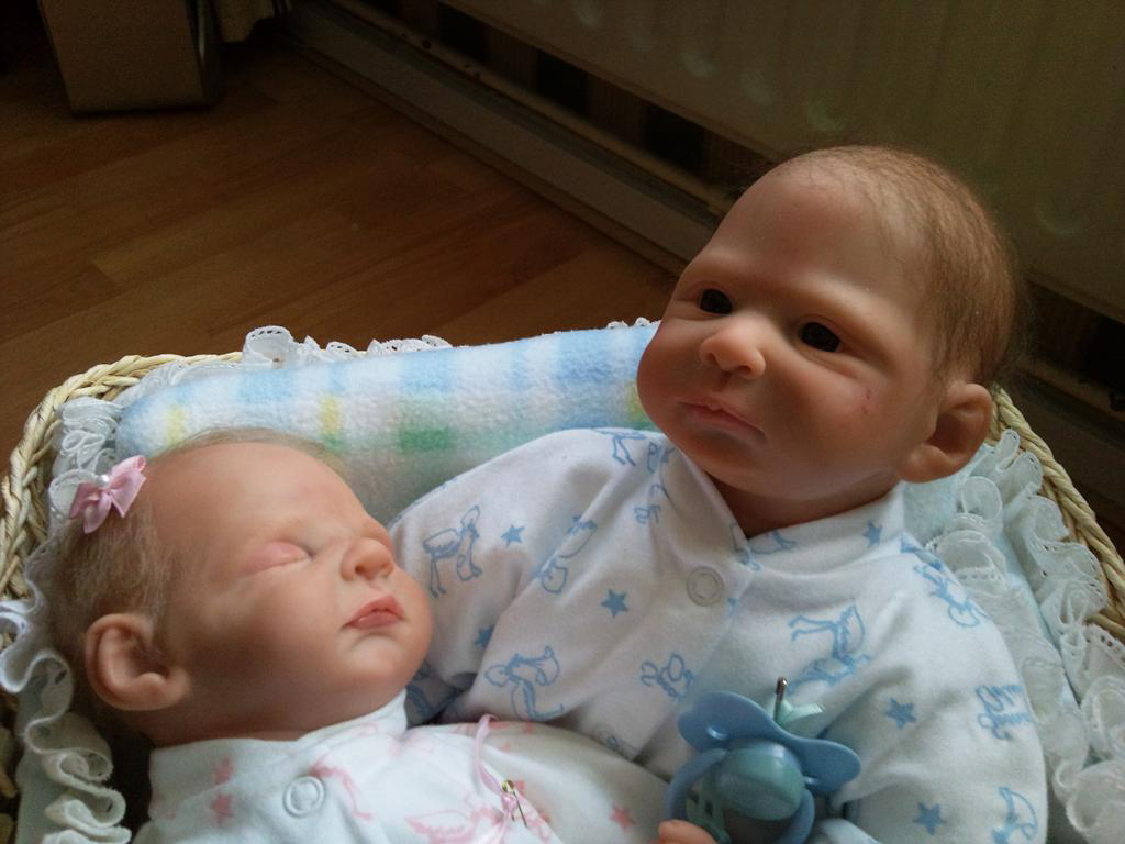 Full Body Silicone Reborn Baby Twins for Adoption