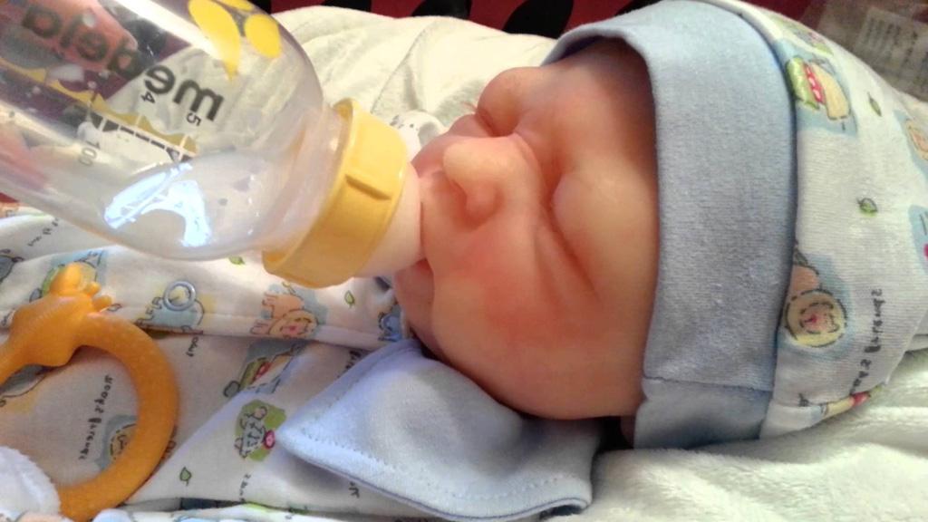 Full Body Silicone Baby Boy Dakota Open Mouth