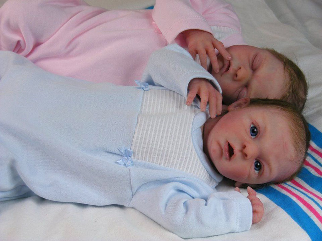 Full Body Silicone Baby Doll Twins Kits