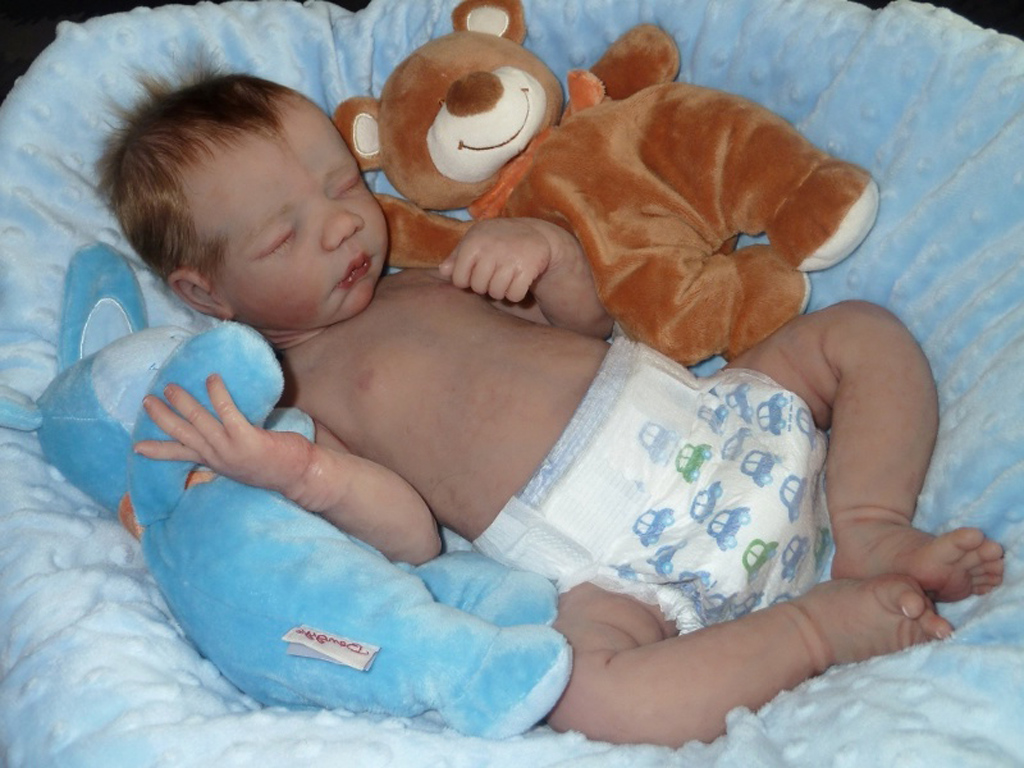 Full Body Silicone Reborn Baby Boy Sleeping
