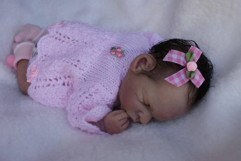 Full Body Silicone Reborn Baby Girl Black