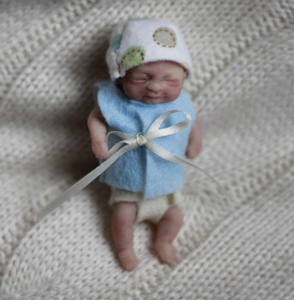 Cute Tiny Silicone Baby Doll
